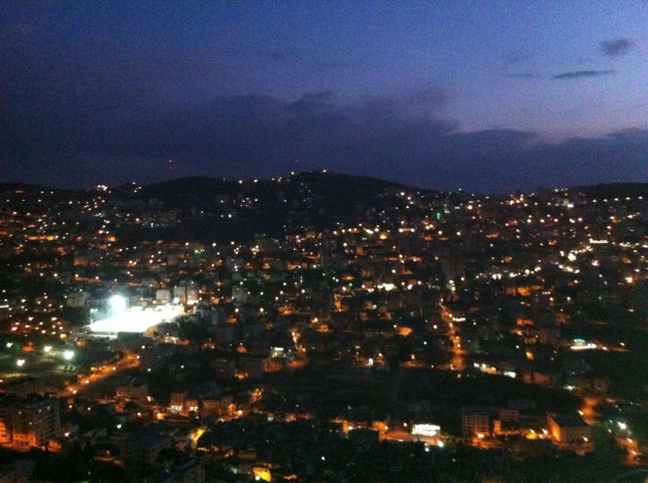 Nablus at Night. Photo by Yonit Friedman