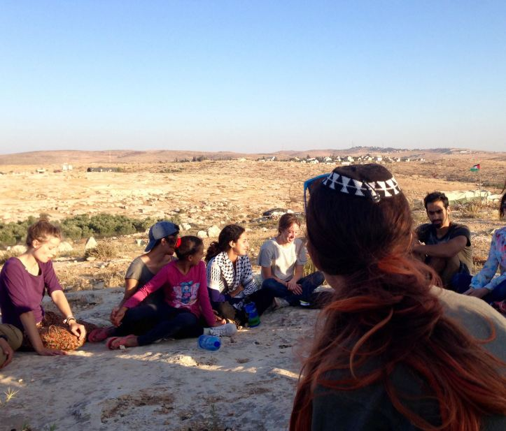 Celebrating Shabbat in Susiya. Photo by Rena Oppenheimer
